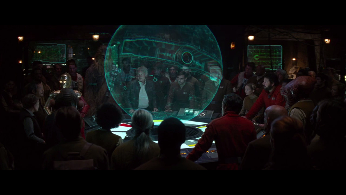 The human-dominated Resistance plans its attack on Starkiller Base in The Force Awakens.