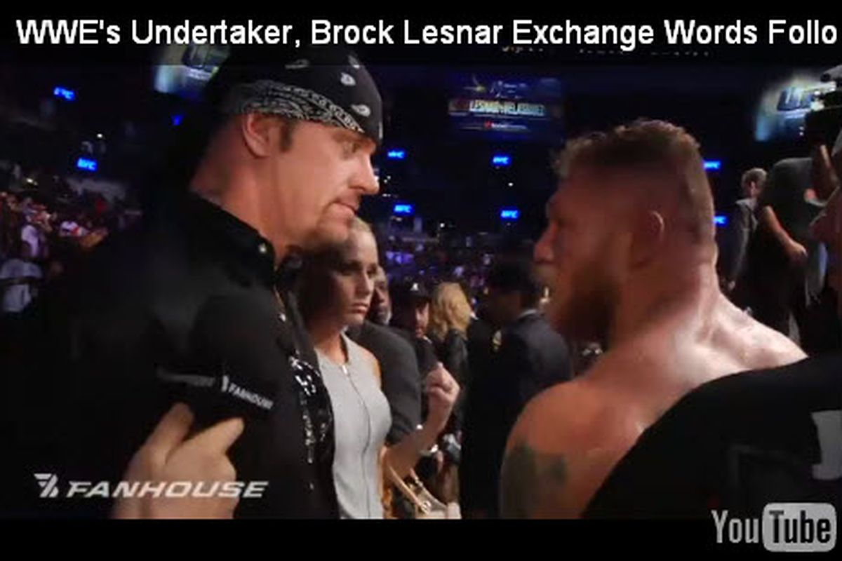 Was The Confrontation Between Undertaker And Brock Lesnar At Ufc 121 A Work Cageside Seats