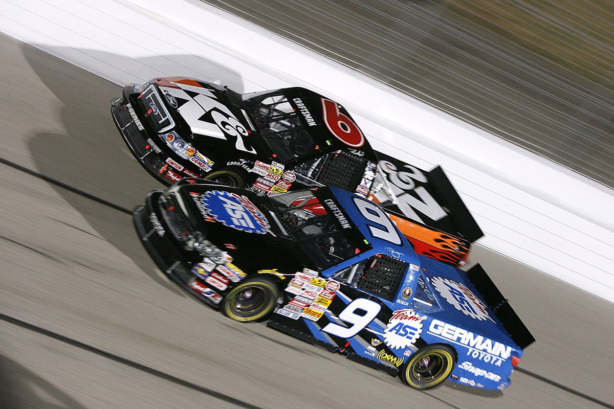 Brad Keselowski 9 Subbed For The Suspended Ted Musgrave At 2007 Memphis Truck Race Getty Images