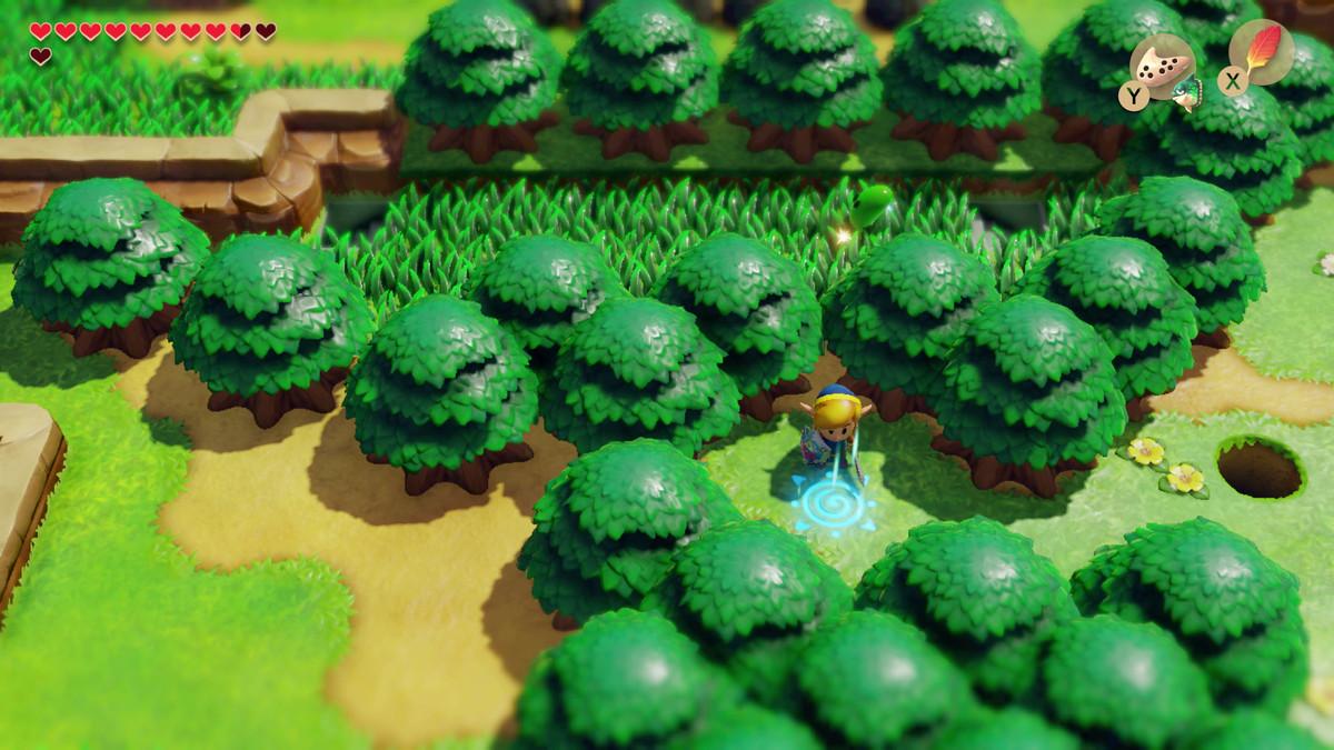 Link's Awakening activate the Martha's Bay warp pad