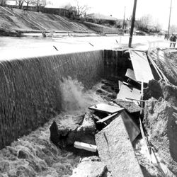 Salt Lake Flooding at 15th East and 18th South in Salt Lake City. May 2, 1952.