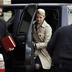Elizabeth Smart arrives at federal court Wednesday for the trial of Brian David Mitchell, who is accused in her kidnapping.