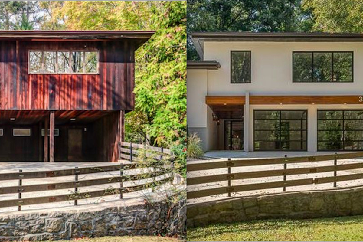 A midcentury modern home in Buckhead shown last year and now.