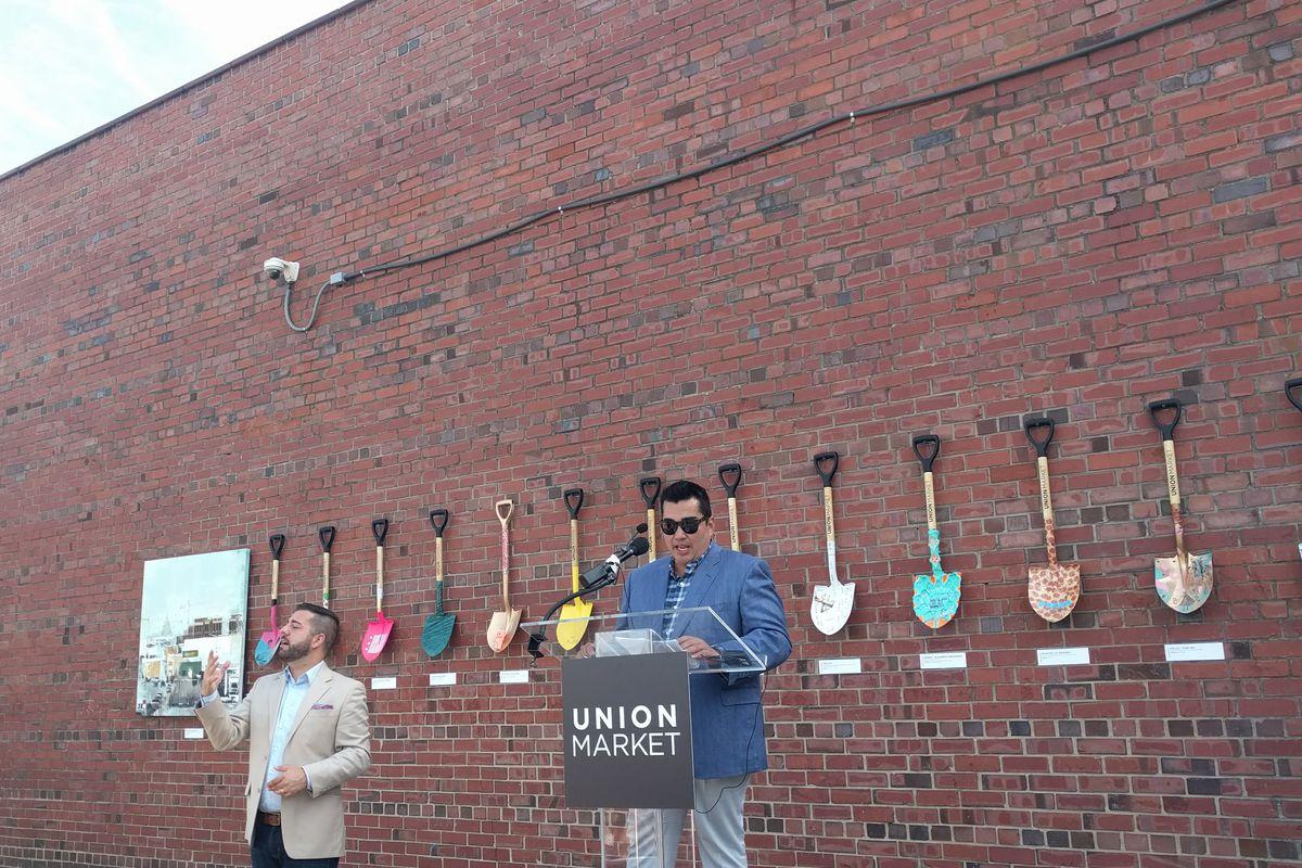 Jose Garces at the groundbreaking event