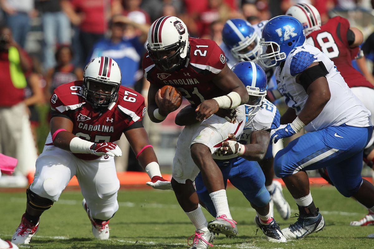 The 2011 Kentucky game is the only full game that Marcus Lattimore and Connor Shaw played together. Is this tandem ready for a big step forward in 2012?