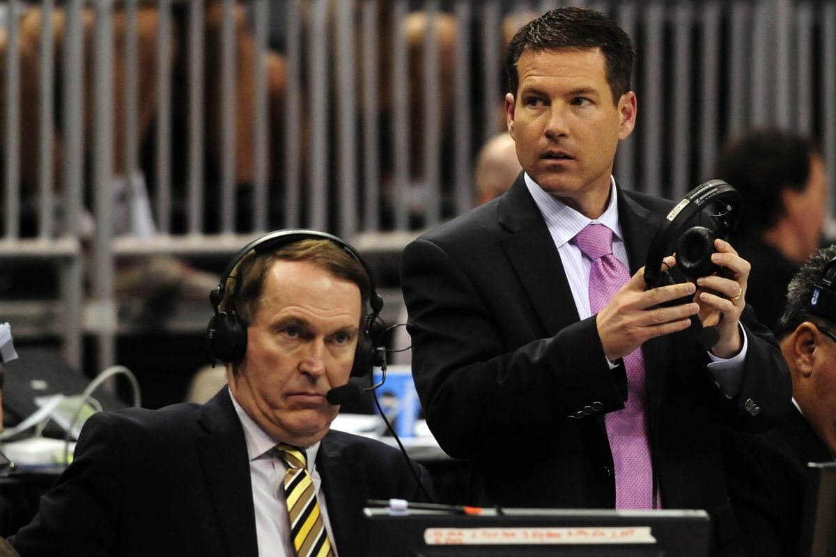 Brian Anderson calling games during the 2014 NCAA basketball tournament
