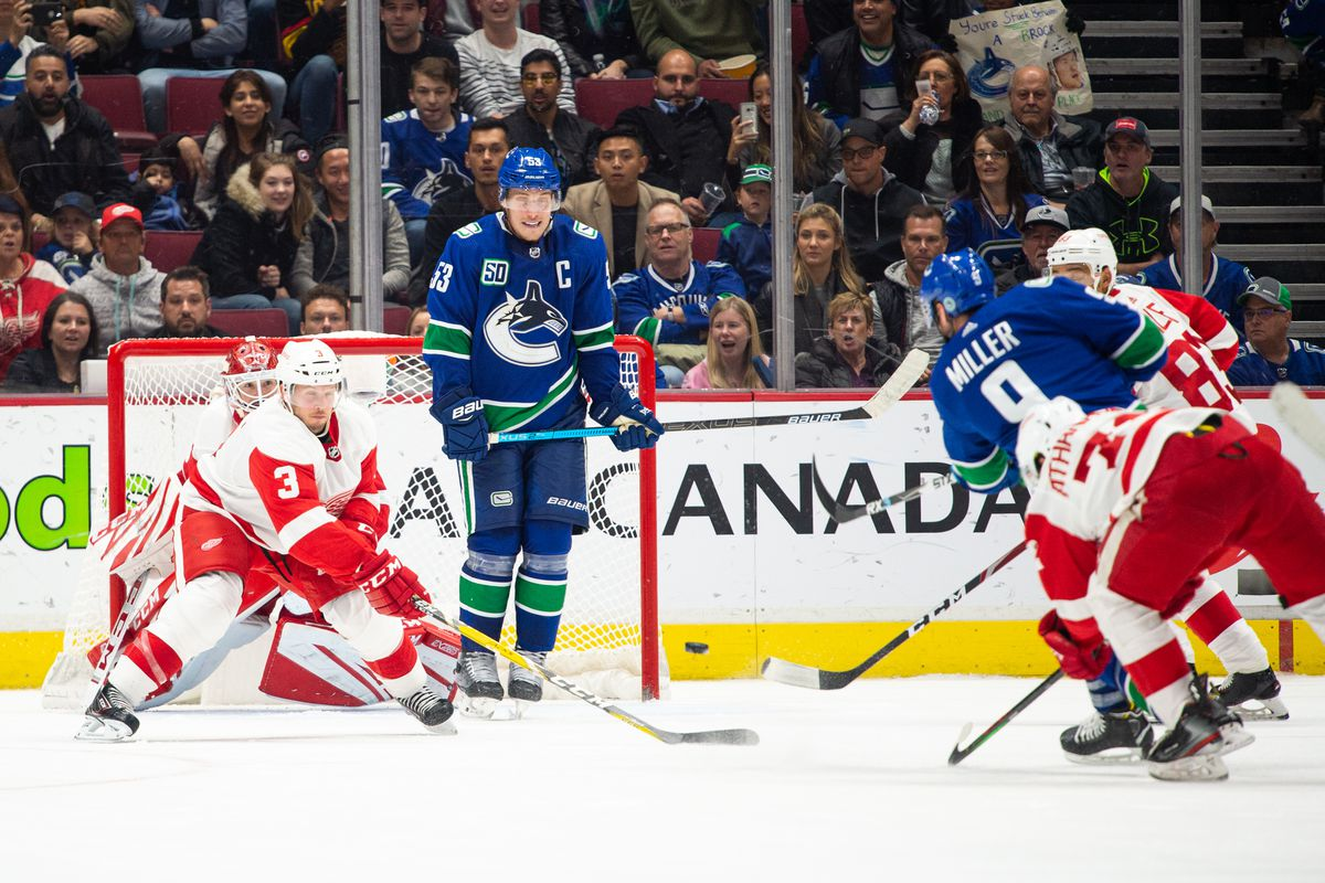 NHL: OCT 15 Red Wings at Canucks