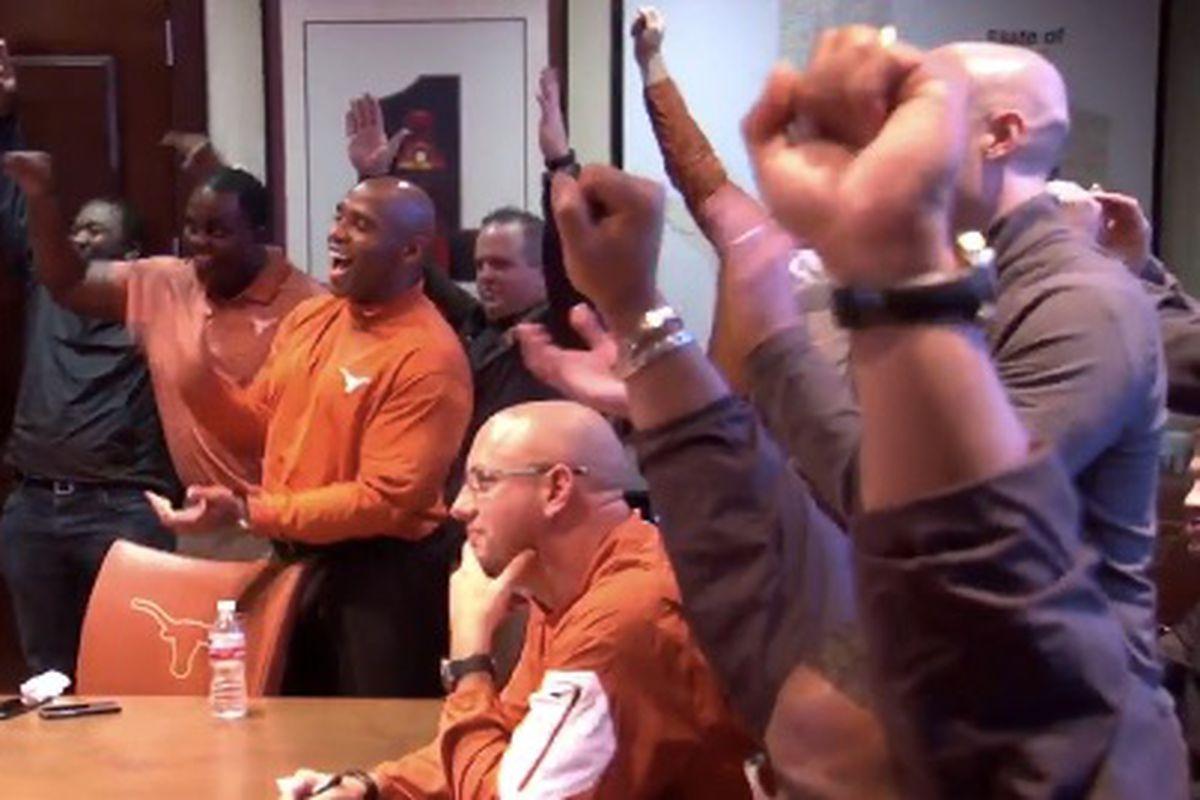 Texas coaches celebrate commitment of Brandon Jones