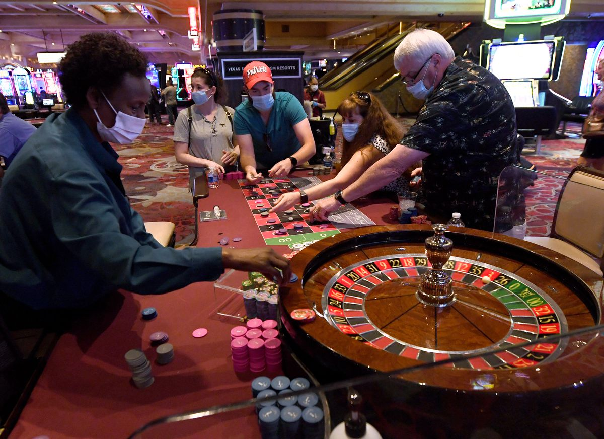 Guests play roulette at Excalibur Hotel & Casino in Las Vegas last year. Casino developers will make their final pitches next month for licenses in Waukegan and Chicago's south suburbs.