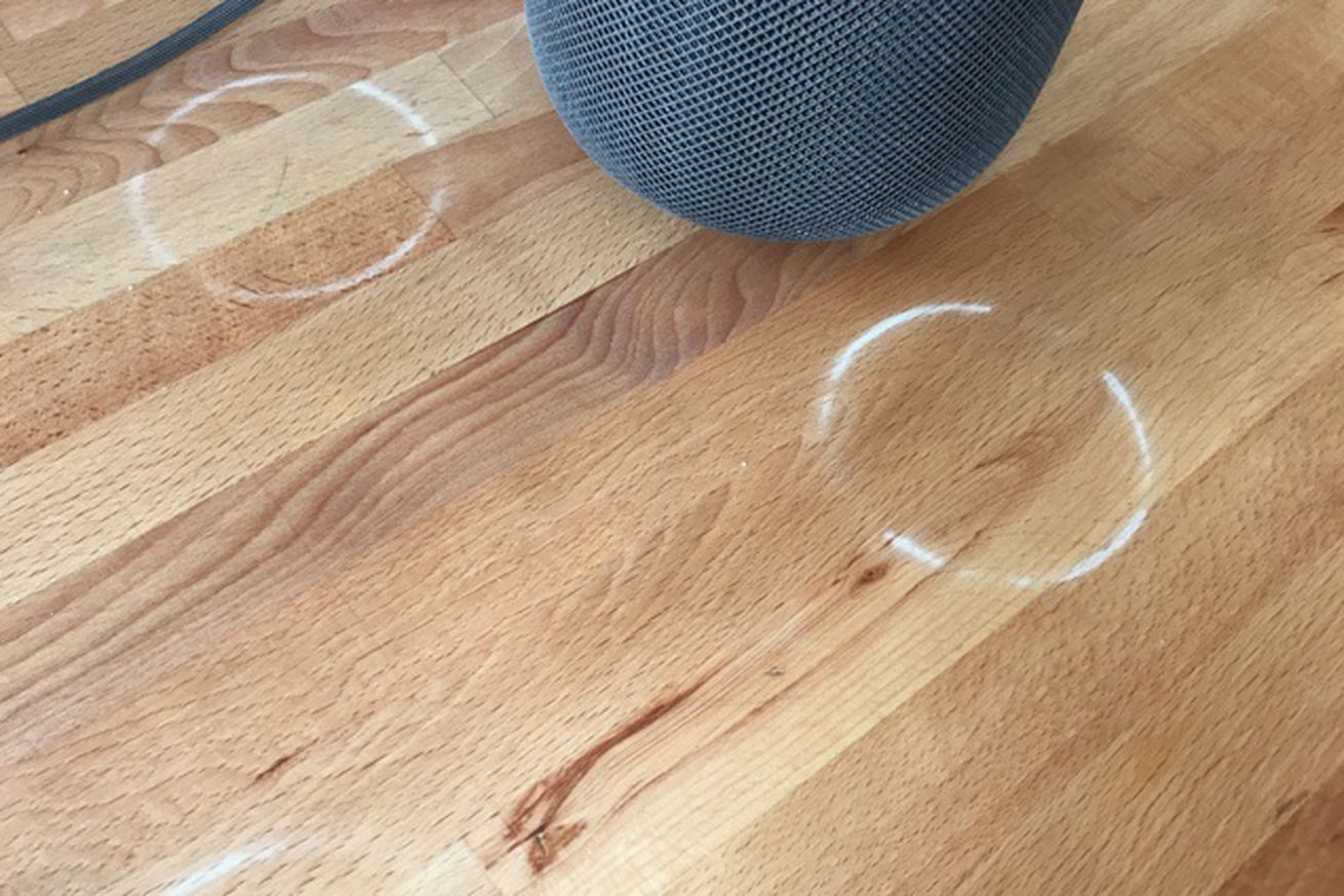 homepods are staining wooden tables with a white ring