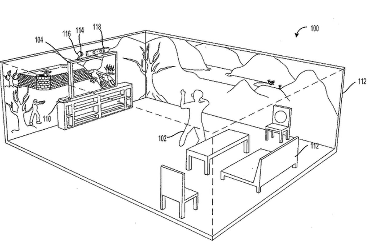 Microsoft immersive display Holodeck patent