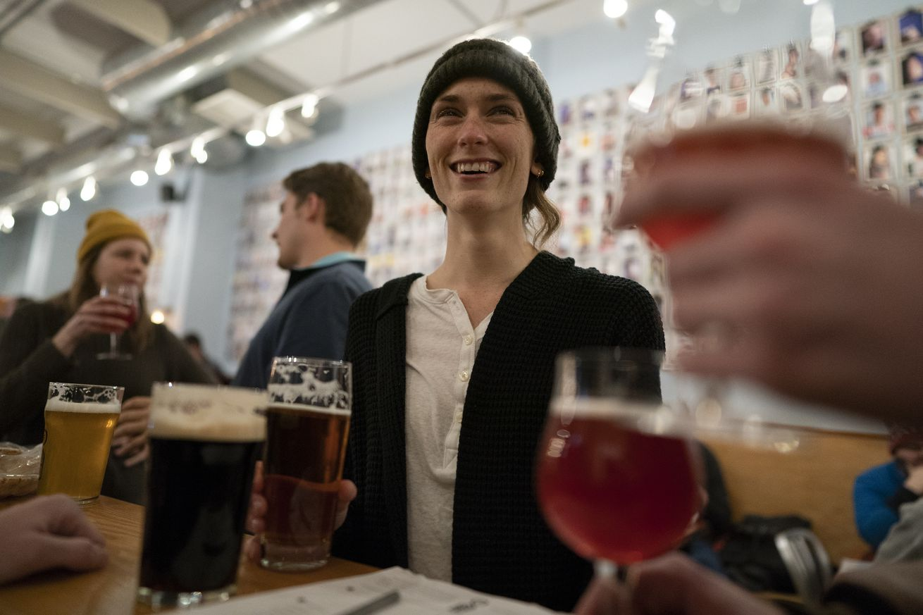 Christina Routon center enjoyed beers with friends Curtis Fincher, and Derek Rohlf at Fair State Brewing Cooperate Taproom Wednesday January 16, 2019 in Minneapolis, MN.] Jerry Holt • Jerry.holt@startribune.com