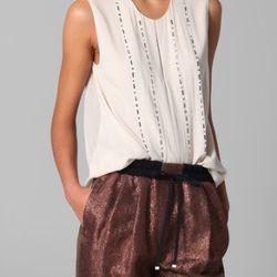 "Sleeveless tuxedo top with rhinestones, $150 (was $395) via <a href=""http://www.lyst.com/clothing/31-phillip-lim-sleeveless-tuxedo-top-with-rhinestones/""> Lyst </a>"