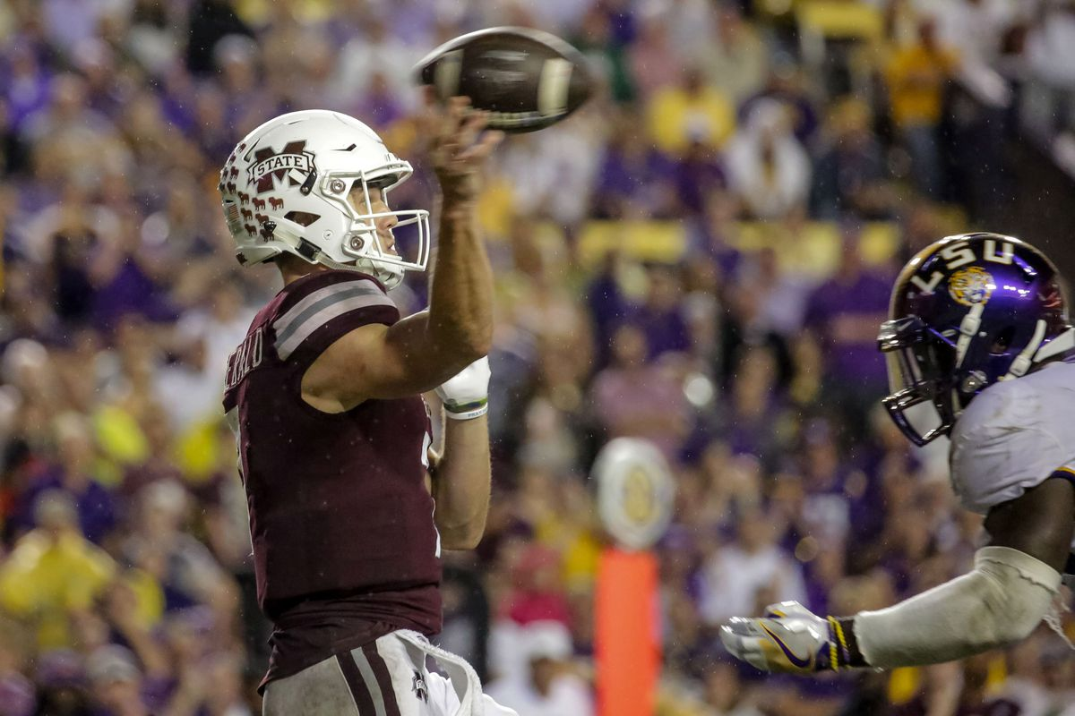 """<p zoompage-fontsize=""""15"""" style="""""""">NCAA Football: Mississippi State at Louisiana State"""