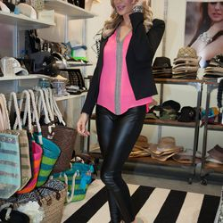 <em>The Real Housewives of Orange County</em> reality star Alexis Bellino launched her new accessories collection Glitzy Bella at MAGIC. Photos: MAGIC Market Week