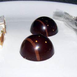 """Pistachio Torrones, Chocolate Bonbons, and Salted Caramel at Ristorante Morini by <a href=""""https://www.flickr.com/photos/37619222@N04/11433450794/"""">The Food Doc"""
