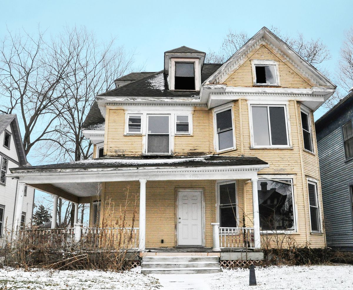 """<p><strong>Status:</strong> Sold in April</p> <p>This home in Springfield, Ohio, is within walking distance of downtown andwill be brought back to its former glory. Sara Foulk of Sibcy Cline Realtors said that the building was sold to a young family, who are restoring the homeand plan to move in later this year. The new owners arealready planning their housewarming party, Foulk said.</p> <p>""""There is a new revival in that area where these folks are breathing life back into these homes, and [t"""