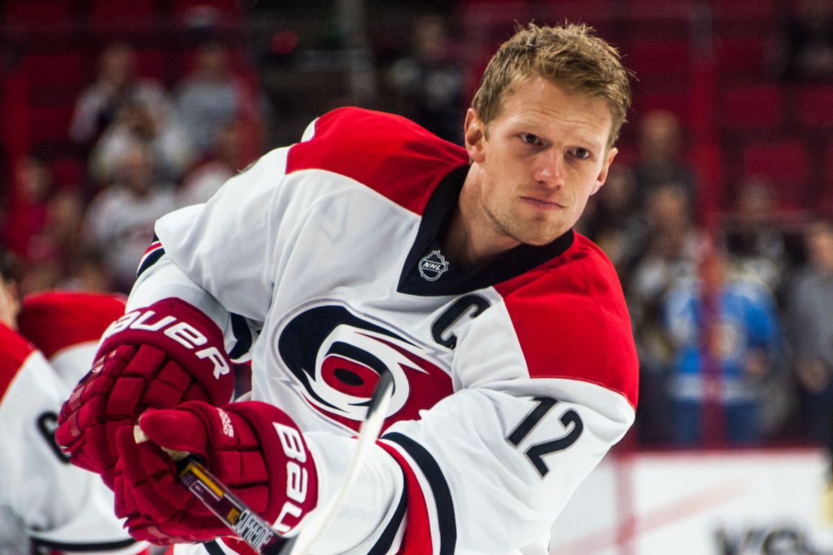 Captain Eric Staal is playing in his 900th career NHL game today.