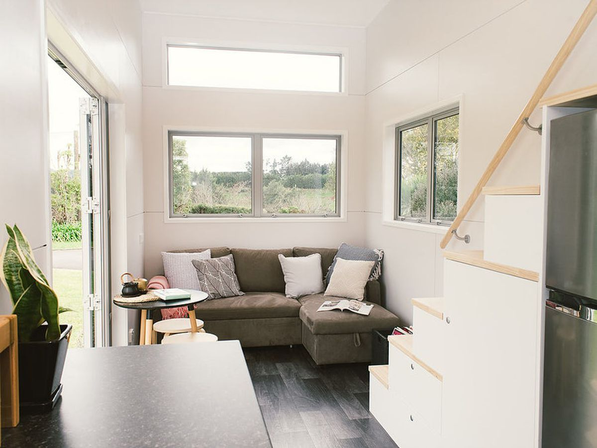 Tiny House Features A Spacious Living Room Curbed