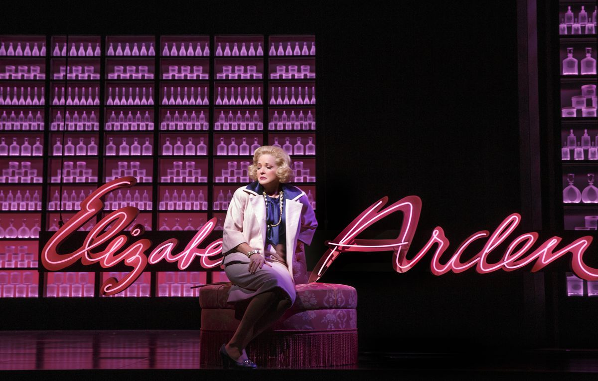 """Christine Ebersole plays Elizabeth Arden in the world premiere musical """"War Paint"""" at the Goodman Theatre through Aug. 21. (Photo: Joan Marcus)"""