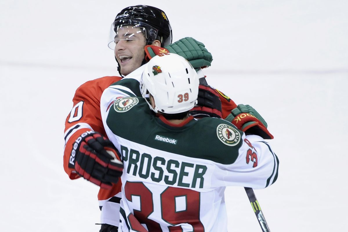 To help get over the disappointment of Monday's loss, here's Prosser punching Brendan Saad in the face.