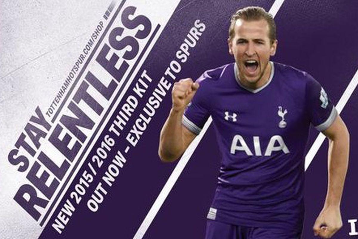 Tottenham reveals 2015-16 third kit: IT'S PURPLE - Cartilage