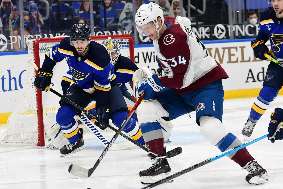 NHL: APR 22 Avalanche at Blues