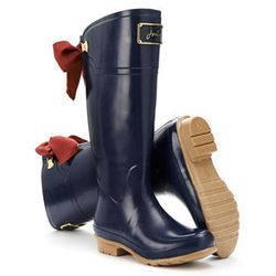 """<strong>Joules</strong> Womens Premium Rain Boot, <a href=""""http://www.joulesusa.com/Women/Wellies/Evedon/Womens-Premium-Rain-Boot/Navy?id=P_EVEDON