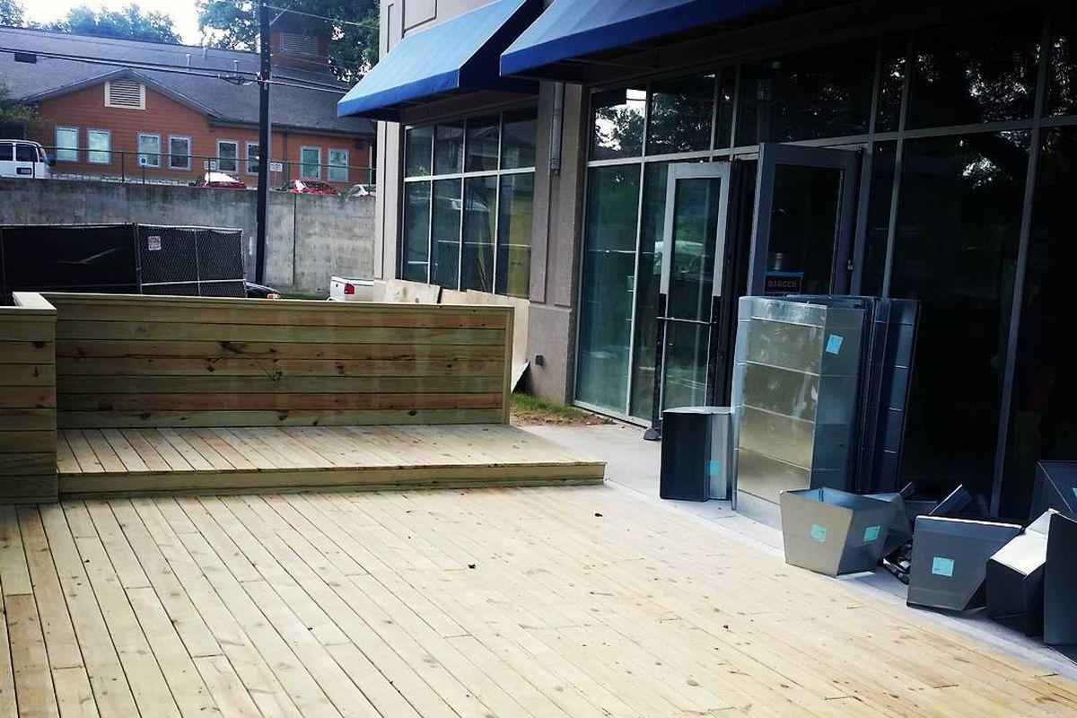 Emmer & Rye's patio plywood