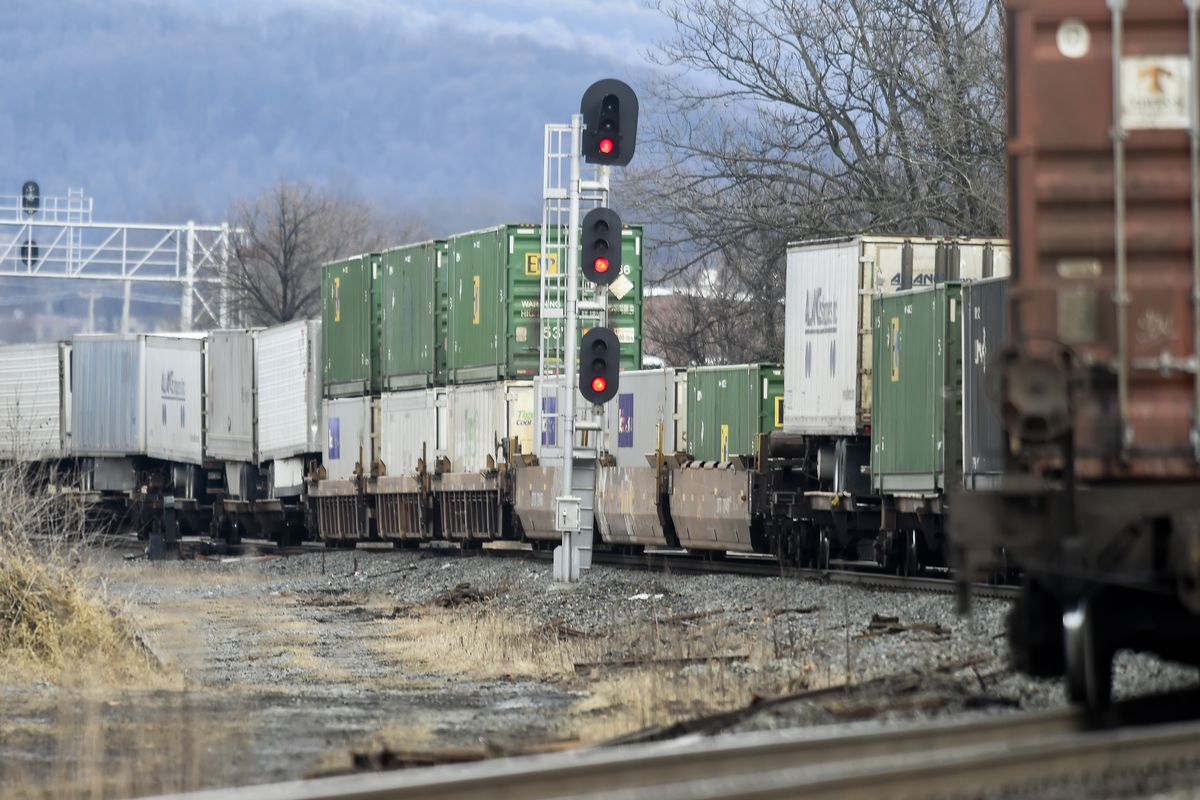 Norfolk Southern Train And Tracks In Pennsylvania