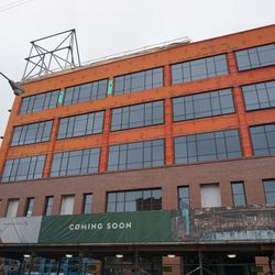 The west side of the new plaza building