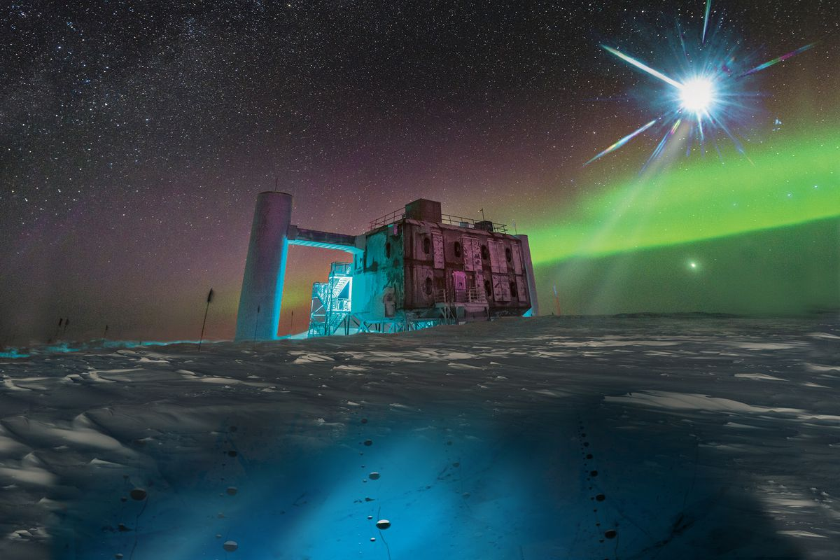 Astronomers trace the source of a high-energy particle ...Icecube Neutrino Observatory Core