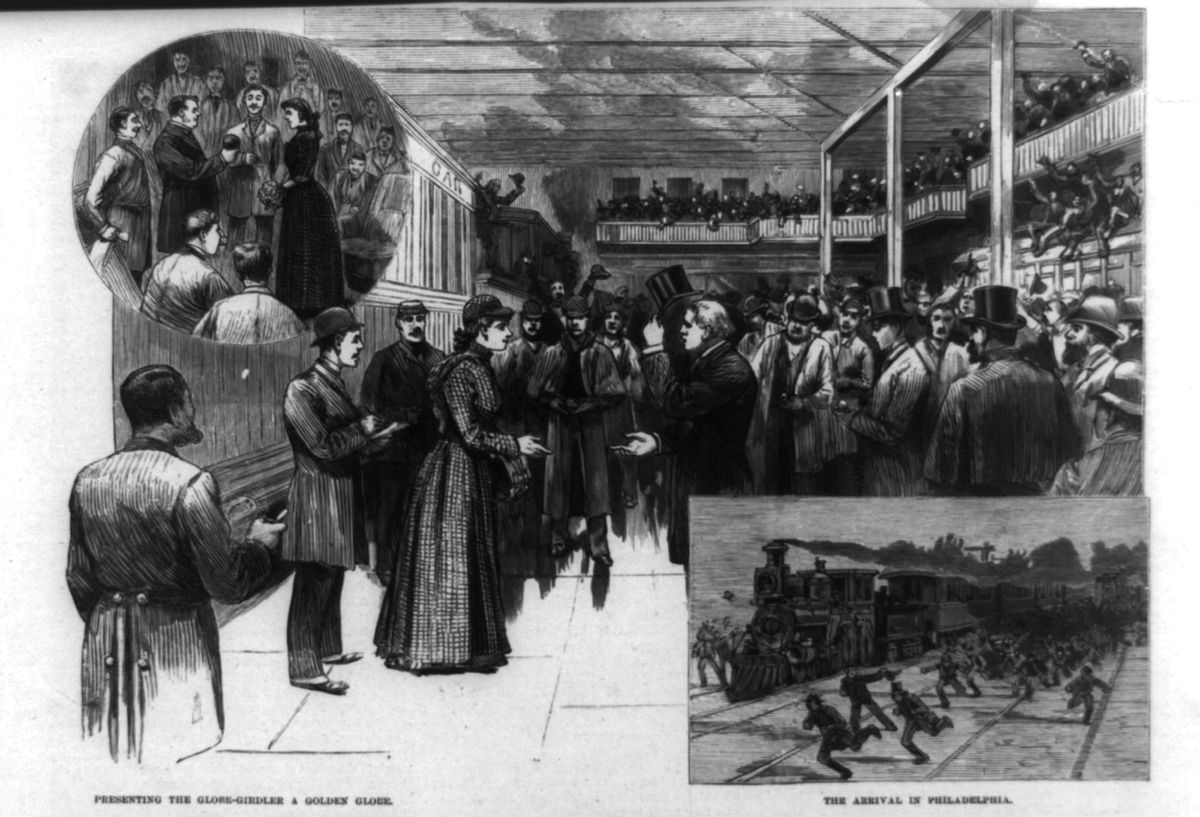 Nellie Bly's reception when she made it home.