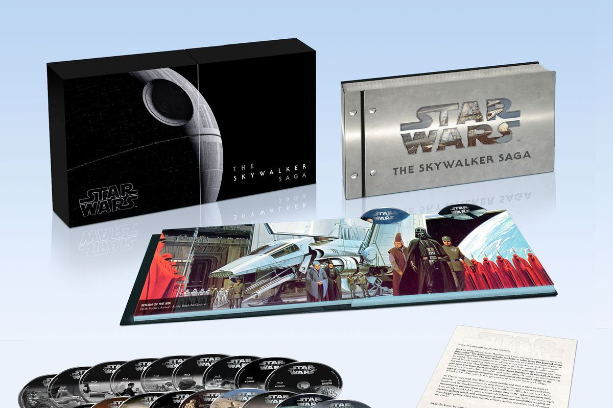 Components for the Skywalker Saga box set exclusive to Best Buy