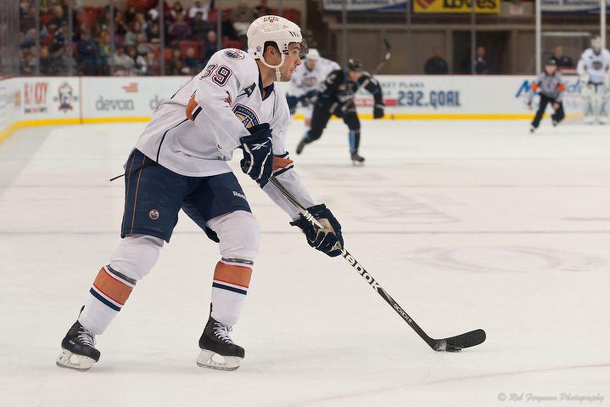 """Chris Vande Velde might be the wild card in the deck of Barons players heading to the Oilers, but he's proved his worth. Photo courtesy of <a href=""""http://www.okchockey.com"""" target=""""new"""">Rob Ferguson and OKCHockey.com</a>"""
