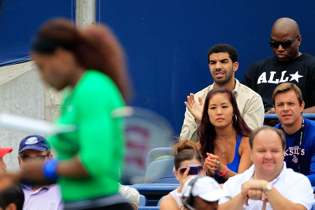 Drake watching Serena play tennis back in 2011. Photo: Getty Images