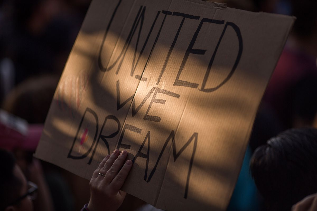 Protestors March To Oppose The End Of Daca On September   In Los Angeles California David Mcnew Getty Images