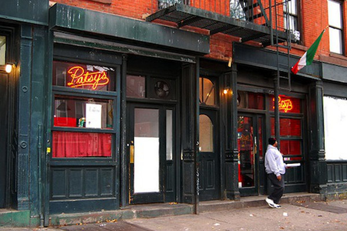 Patsy's in New York, a manly restaurant with a lady's name.
