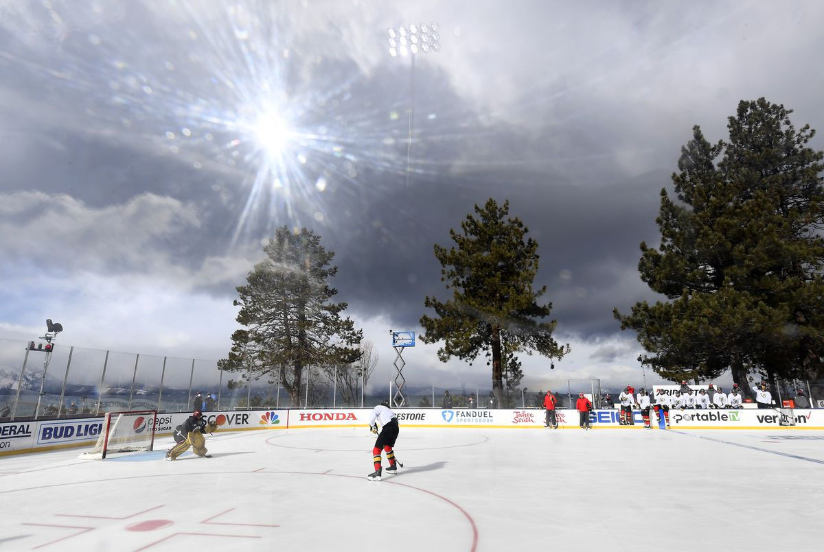 NHL Outdoors At Lake Tahoe - Practice Sessions