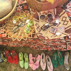 Straw, sandals, and sunnies—oh my!—at Naked Cowgirl Vintage.