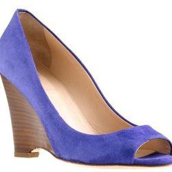 "<b>J.Crew</b> Lora Peep Toe Wedges, $188 at <a href=""http://www.jcrew.com/womens_category/shoes/wedges/PRDOVR~64659/64659.jsp"">J.Crew</a>."