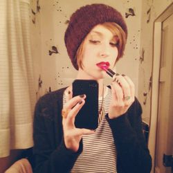 I'm going to a friend's record release party in Park Slope tonight, which is a great excuse to try out a lipstick I just got: Rio Rio by <b>Topshop</b>. I'm officially obsessed with it. The best part? It lasted all night. I put it on at 8pm and it was sti