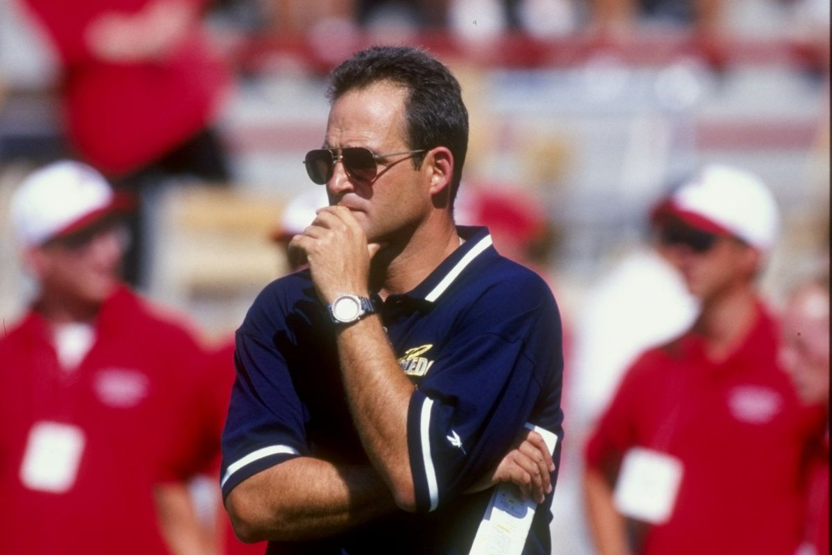 12 Sep 1998: Head coach Gary Pinkel of the Toledo Rockets looks on during the game against the Ohio State Buckeyes in Columbus, Ohio.