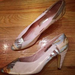 Jasmin ripple heel Chrysler building shoes if the Chrysler Building was built by a woman: $38. Size 8.5