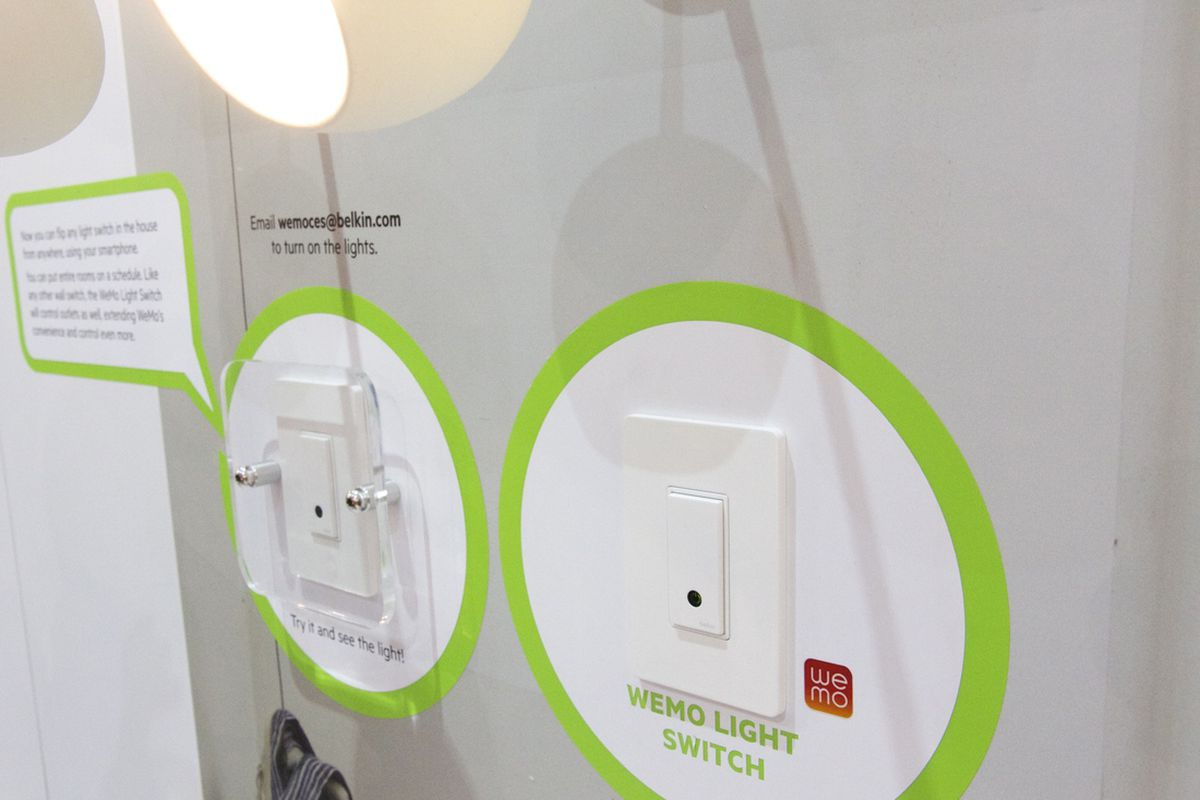 Smartphone Light Switch belkin's wireless wemo light switch can be controlled with your