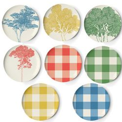 """Melamine plate that can take a beating, in park-themed prints. <b>Thomas Paul</b> Portland Plate Set, <a href=""""http://www.bobbyberkhome.com/product/dishes/10328-39050/thomas-paul-portland-plate-set.html"""">$80</a> at Bobby Berk Home"""