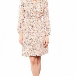 """Karen faux wrap dress, beige dots; was $178, now <a href=""""http://www.amourvert.com/karen-faux-wrap-dress-beige-dots/"""">$121.80</a>"""