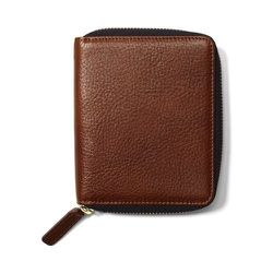 """<strong>Club Monaco</strong> Wilson Leather Wallet in Eclipse, <a href=""""http://www.clubmonaco.com/product/index.jsp?productId=17894716&cp=12243591.12280936.12454400&ab=viewalll"""">$49.50</a>"""