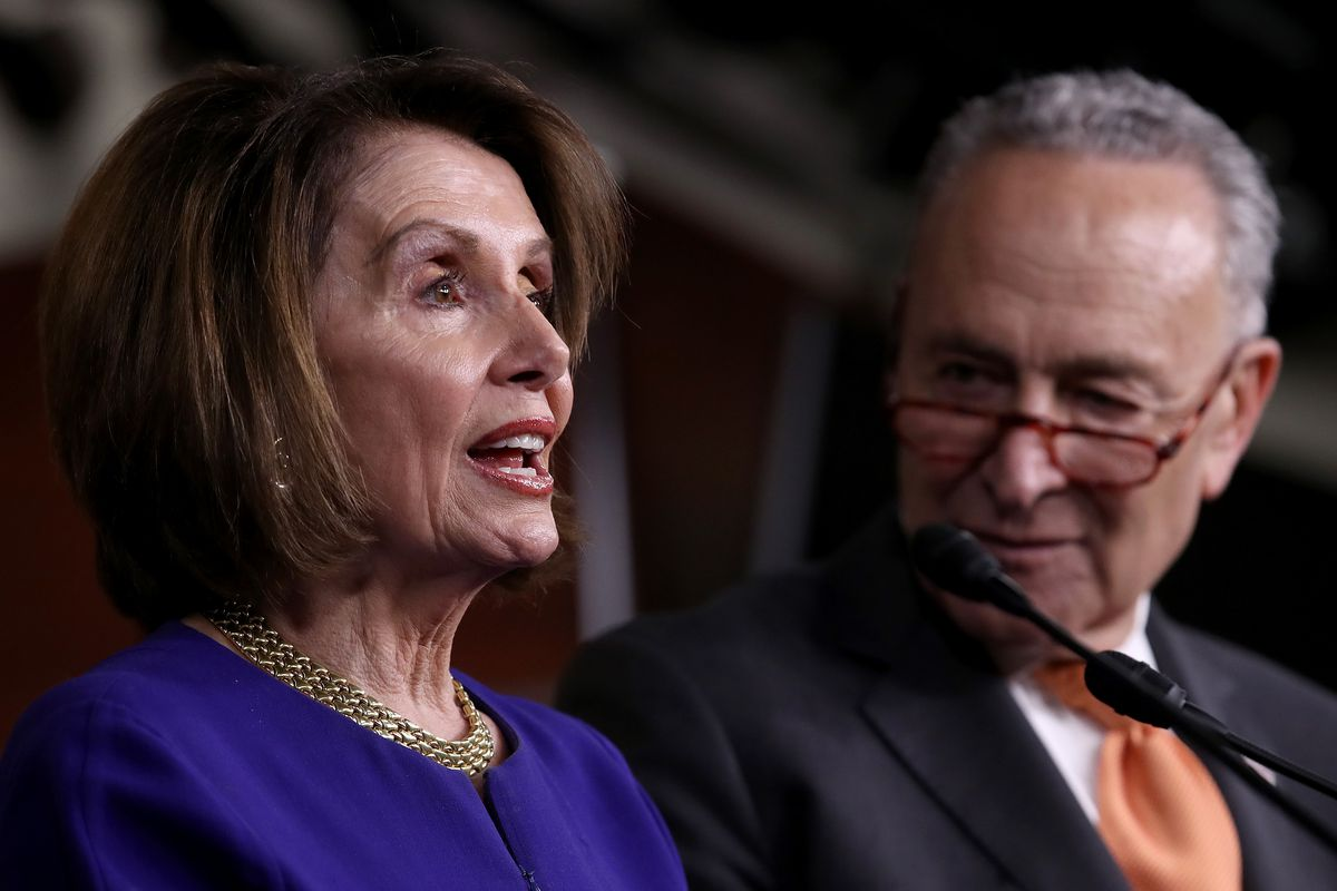 Speaker Pelosi And Senate Democratic Leader Sen. Schumer Speak On Capitol Hill After President Trump Speaks On Mueller Report