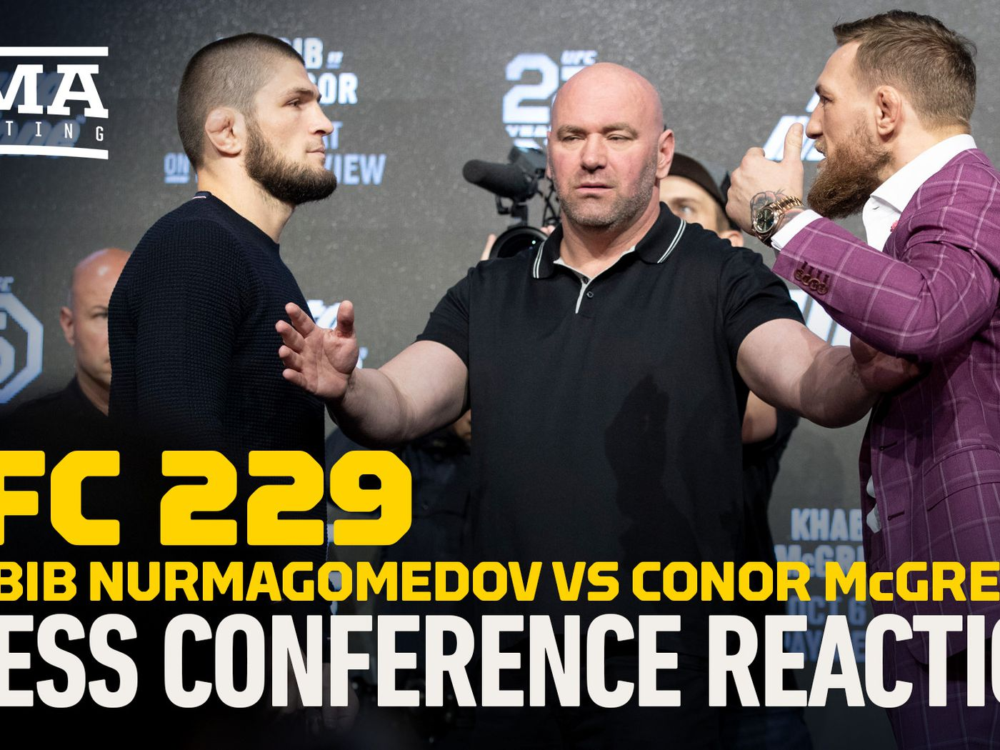 VIDEO: UFC 229 Khabib vs  McGregor New York press conference